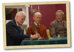 Re-enactments of historical signing